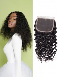 Peruvian Jerry Curly Hair Lace Closure