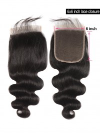 Body Wave Closure 6*6 Lace Closure Hair Human Hair Closure