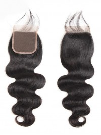 Body Wave Human Hair 4*4 lace Closure Peruvian 1pc