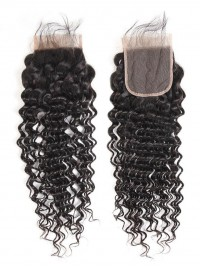 Deep Wave Brazilian Virgin Hair 4x4 Lace Closure
