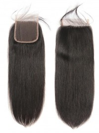 Brazilian Straight Human Hair 4x4 Lace Closure 1pc