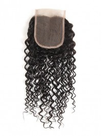 Indian Virgin Hair Kinky Curly 4x4 Lace Closure