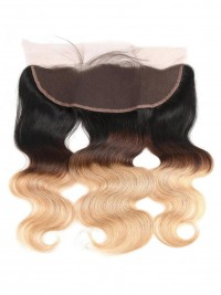 Brazilian Body Wave 13x4 Pre Plucked Lace Frontal with Baby Hair Ombre 1b/4/27