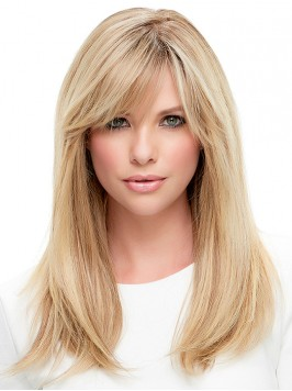Long Straight Blonde Lace Front Human Hair Wigs Wi...