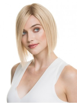 Bob Style Short Straight Blonde Lace Front Hair Wi...