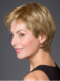 Full Lace Synthetic Straight Short Wigs