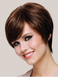 Full Lace Short Straight Synthetic Wigs