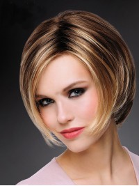 Bob Short Straight Synthetic Capless Wigs