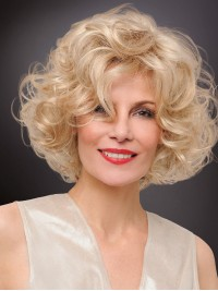 Blonde Curly Short Synthetic Capless Wigs
