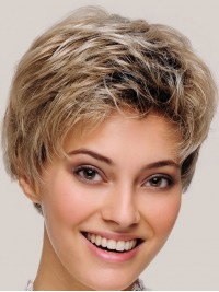Short Straight Capless Synthetic Wigs