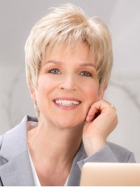Blonde Straight Short Lace Front Boy Cut Synthetic Wigs 6 Inches