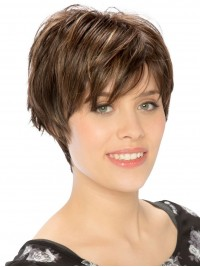 Straight Short Capless Synthetic Wig