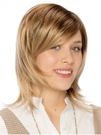Blonde Short Straight Capless Synthetic Wigs