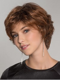 Layered Wavy Short Auburn Capless Synthetic Wigs 8 Inches