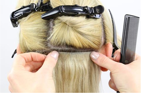 *Now Is The Time To Apply The Glue To Your Hair Weft.