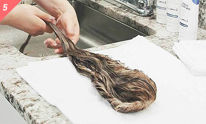 Step 4b: Condition Human Hair
